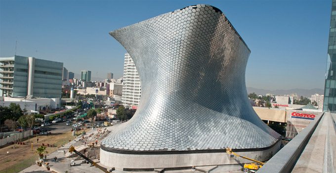 Refinement architectural design, Museo Soumaya from Mexico City