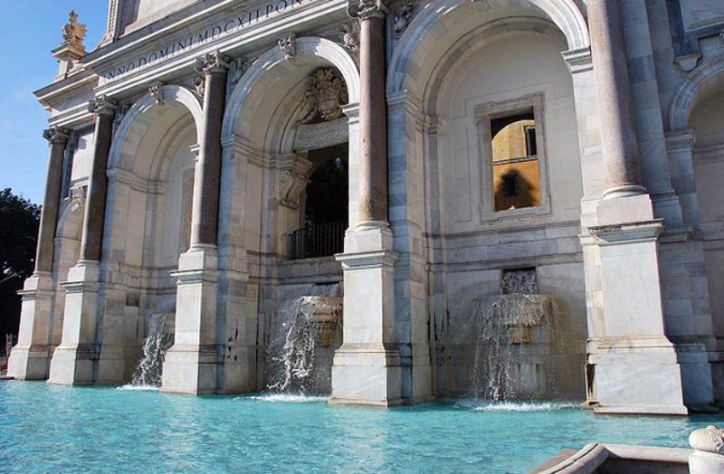 Roma Il Fontanone Dell Acqua Paola Lazio Italia