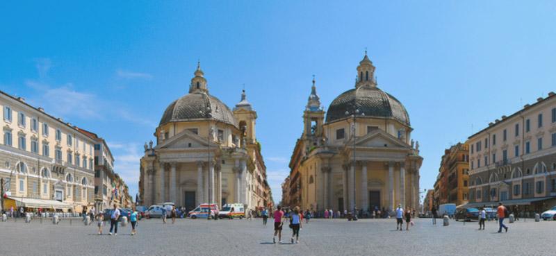 rome piazza del popolo  lazio  italy