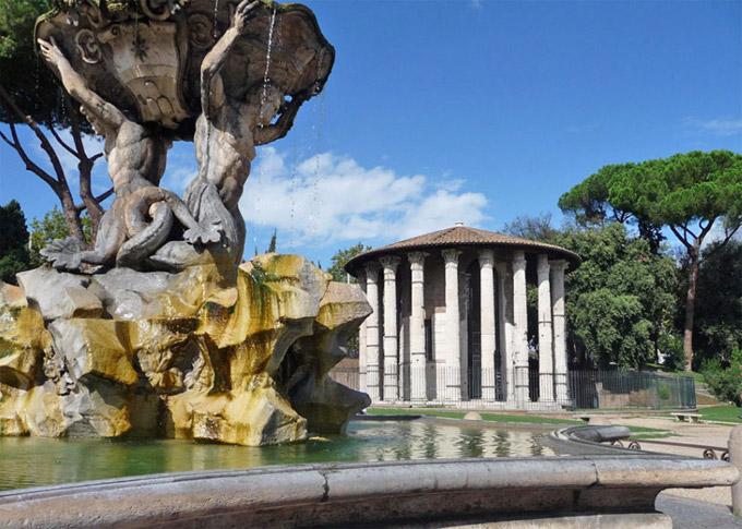 Le temple d'Hercule et du Temple de Portunus