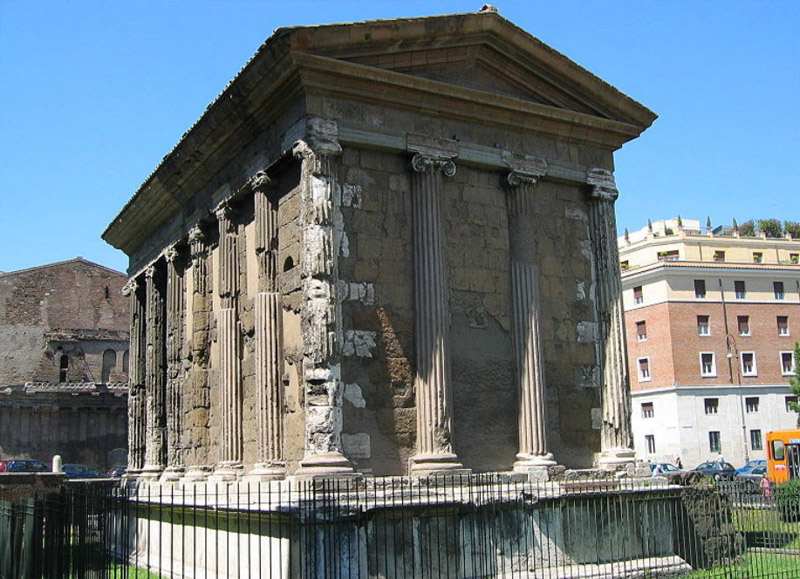 The Temple of Hercules and the Temple of Portunus
