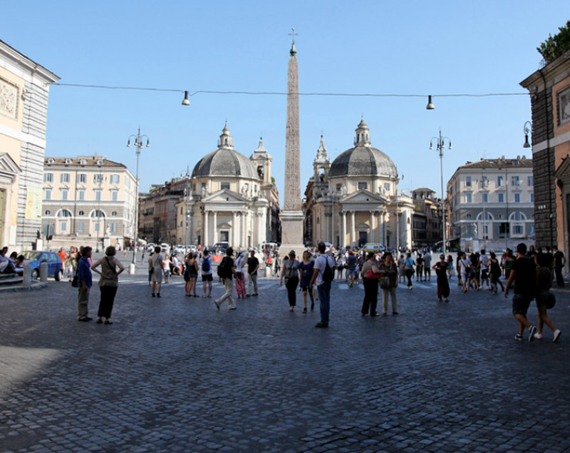 Roma Piazza Del Popolo Lazio Italia Zona Turismo Roma