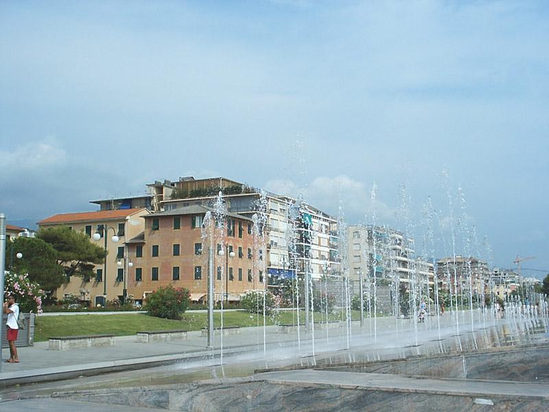Chiavari The Promenade (Liguria, Italy) - seafront promenade ...