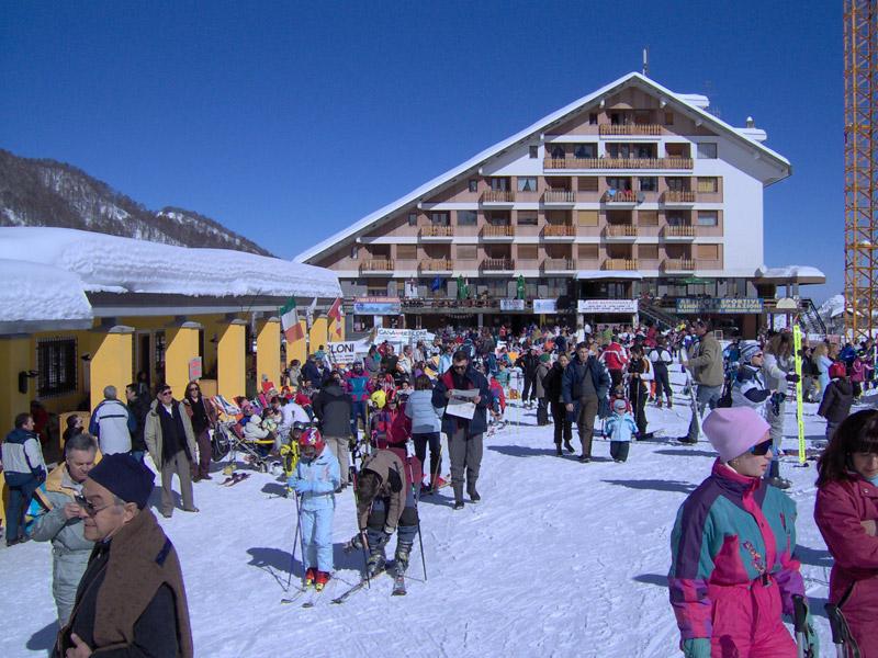 Les pistes de ski du Mondolè