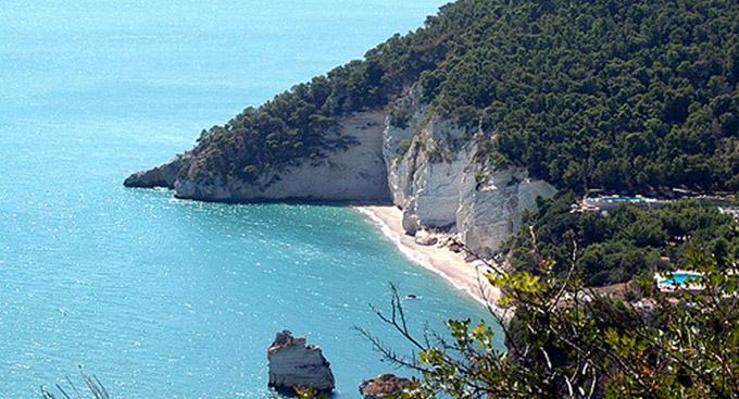 Apulien Karte Strände.Bucht Des Zagare Baia Delle Zagare Apulien Italien Strand Bucht