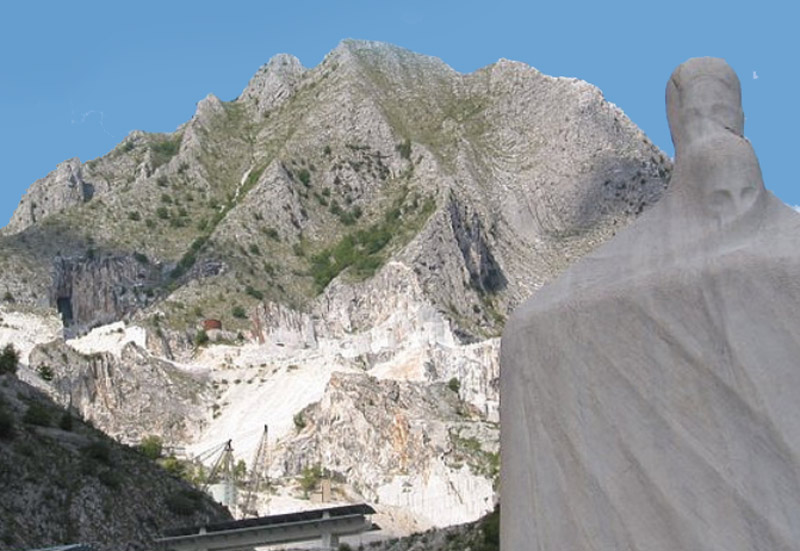 The marble quarries