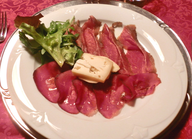 Salted meat of Trentino