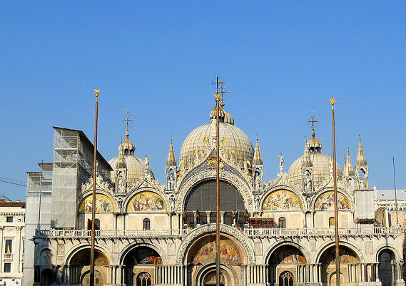 Venice St Mark S Basilica Veneto Italy Christian Churches Venice Christian Building