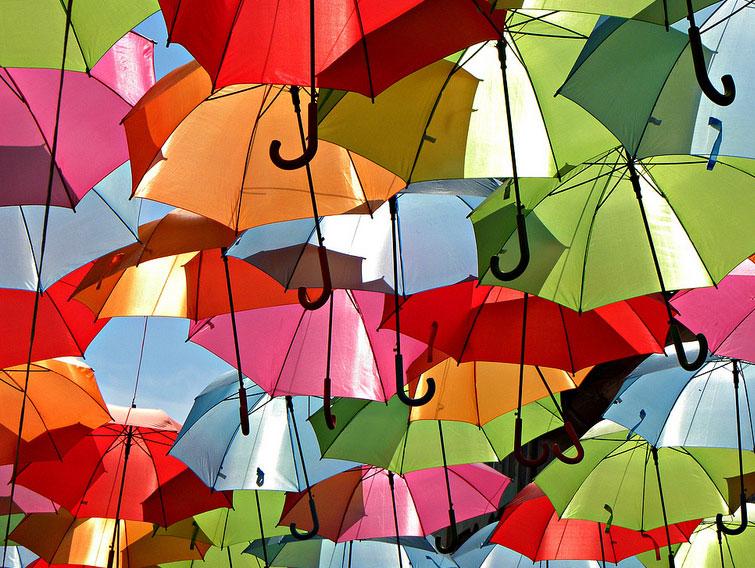 Guarda-chuvas em Águeda
