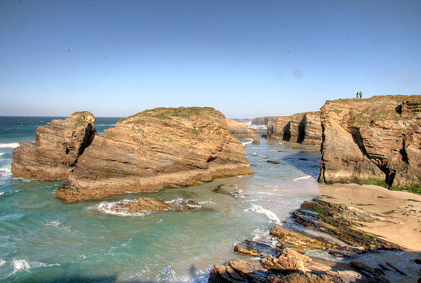 Ribadeo As Catedrais beach (Galicia, Spain) - beach Ribadeo - the beach Ribad...